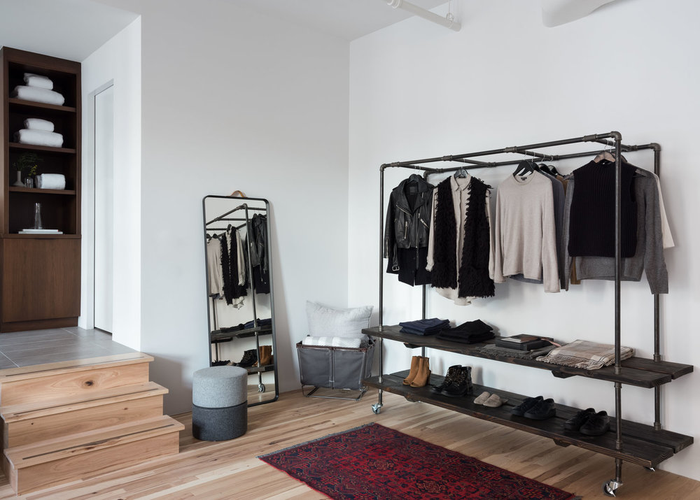 The Monkey Bar Minimalist Closet on castors