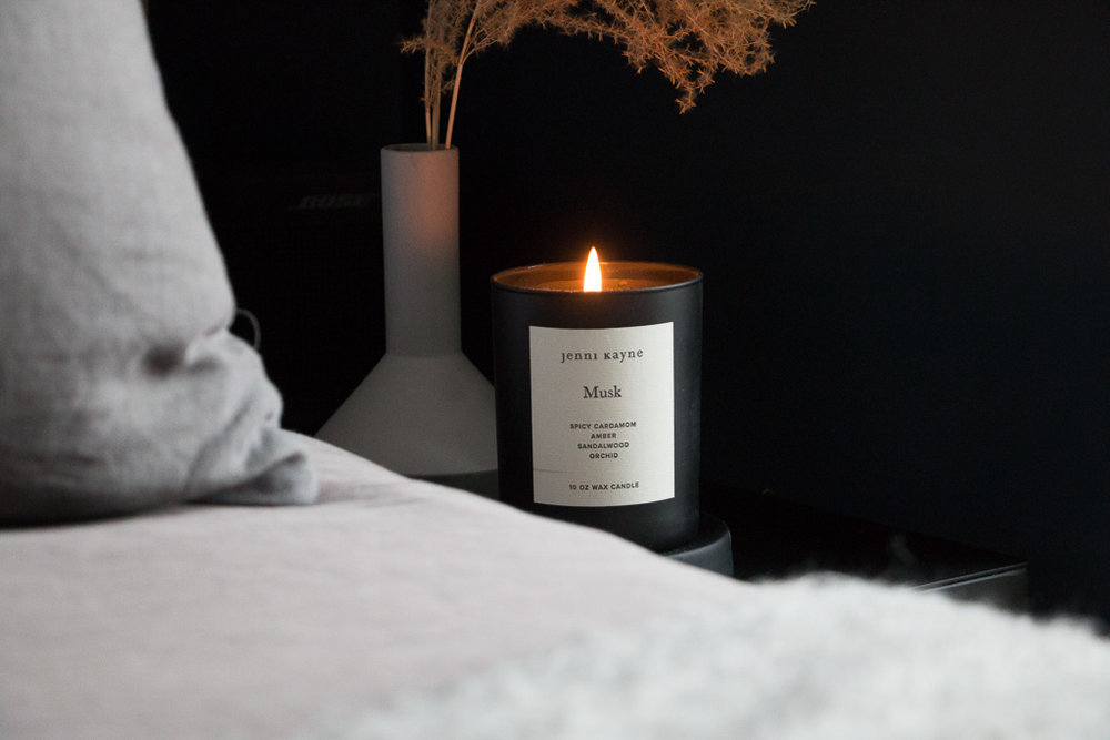 In case you're wondering, the Musk candle from Jenni Kayne (also seen in our V-day post) is probably the best smelling candle we've ever owned. Legit.