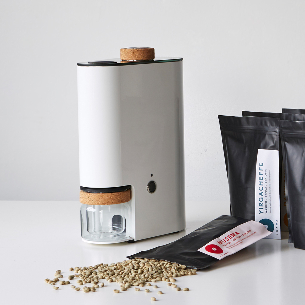 IKAWA Home Coffee Roaster with 12 packs of green coffee beans.jpg