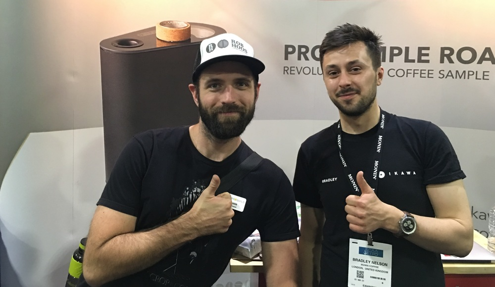 Rob with Bradley at IKAWA stand of SCAA 2016