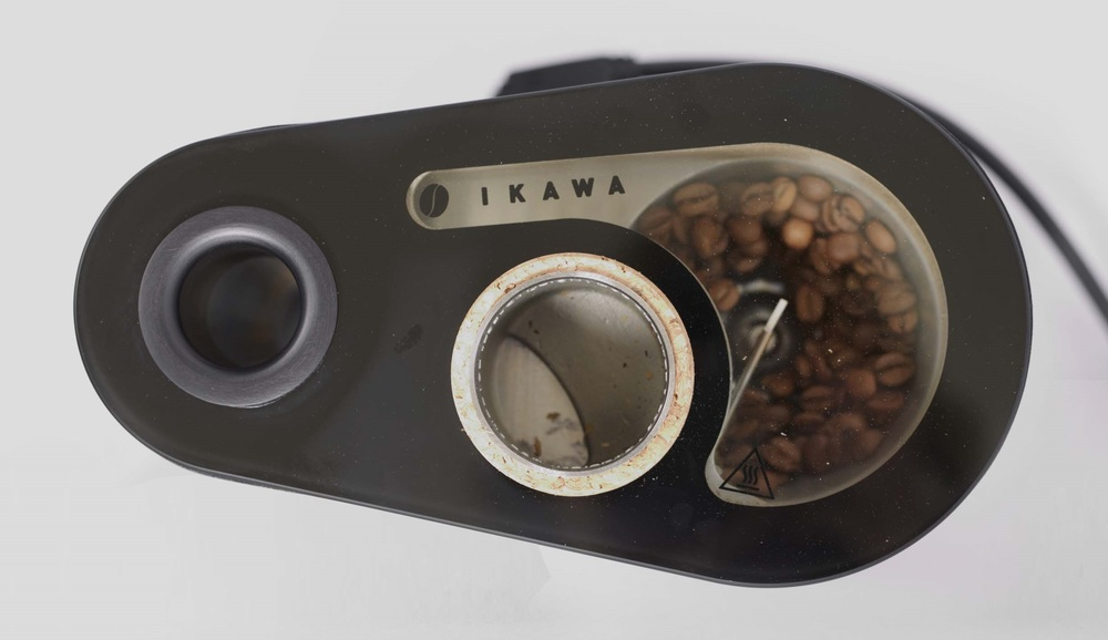 IKAWA Pro Sample Roaster with the PT1000 Temperature Sensor monitoring exhaust temperature in roast chamber