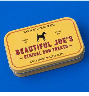 Beautiful Joe's Treats & Tin - £6.00