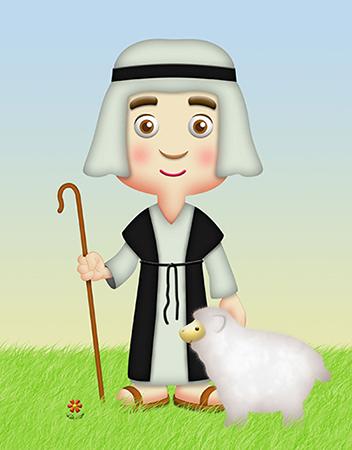David cuida las ovejas de su padre