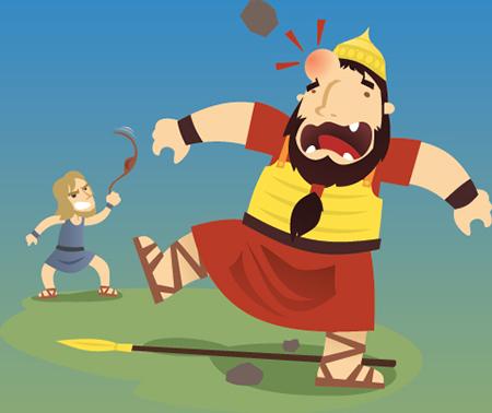 David derrota a Goliat