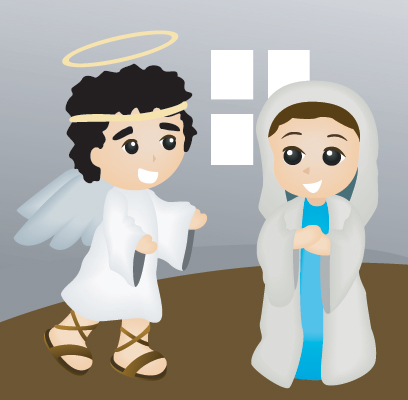 El ángel Gabriel anuncia el nacimiento de Jesús
