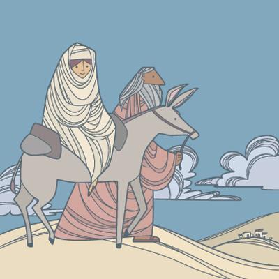 José y María viajan a Belén