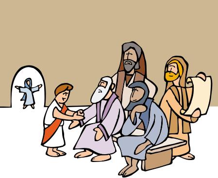 Jesús en el templo cuando tenía 12 años