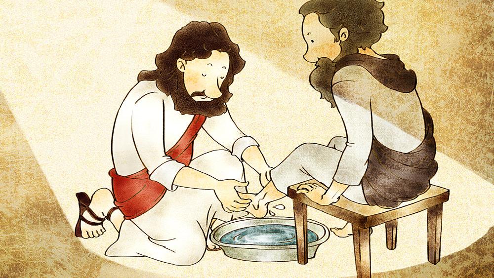 Lección 43: Jesús Lava los Pies de Sus Discípulos