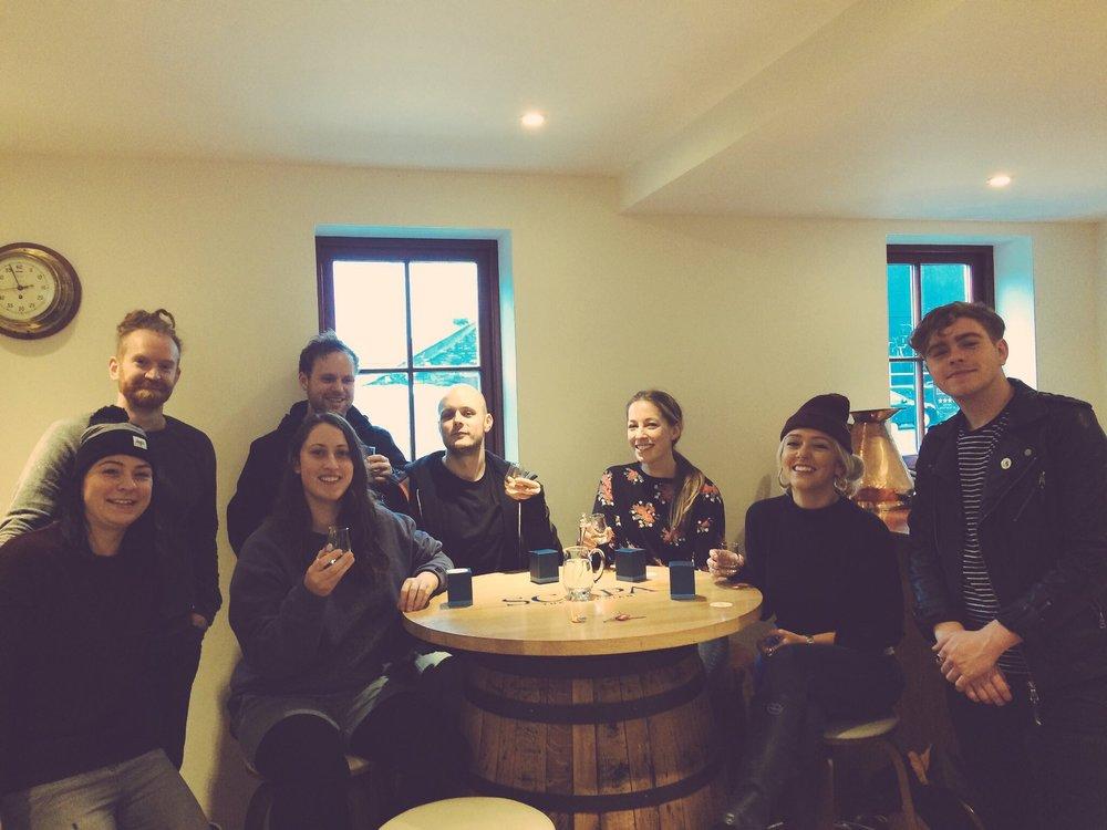 whiskey Tasting @ Scapa Distillery w/ Lucy, Georgina , Newton Faulkner & team