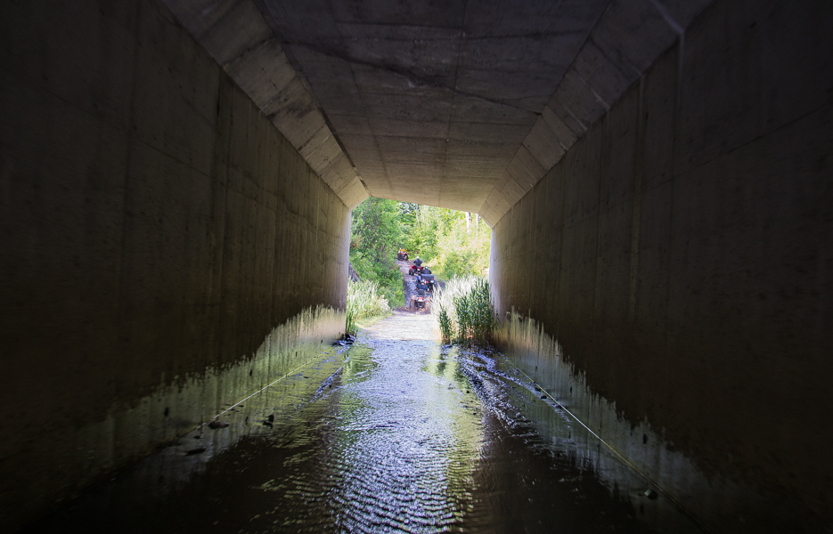 The first 'puddle', under Highway 400.