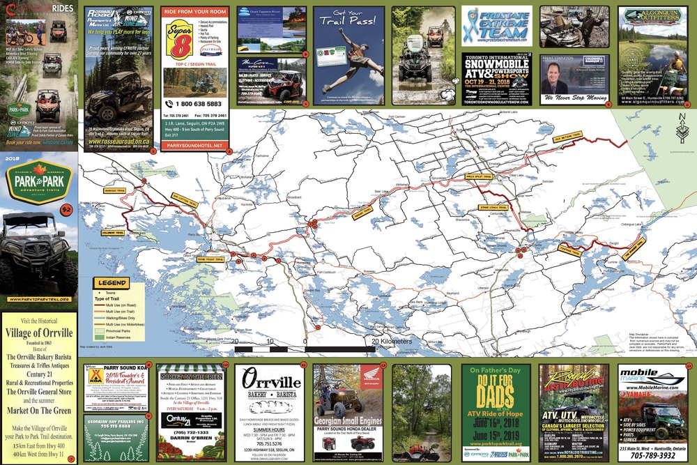 Trail Map — Park to Park Trail