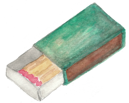 match box watercolor by Helen McLaughlin