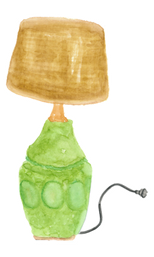 lamp watercolor by Helen McLaughlin