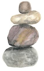cairn watercolor by Helen McLaughlin
