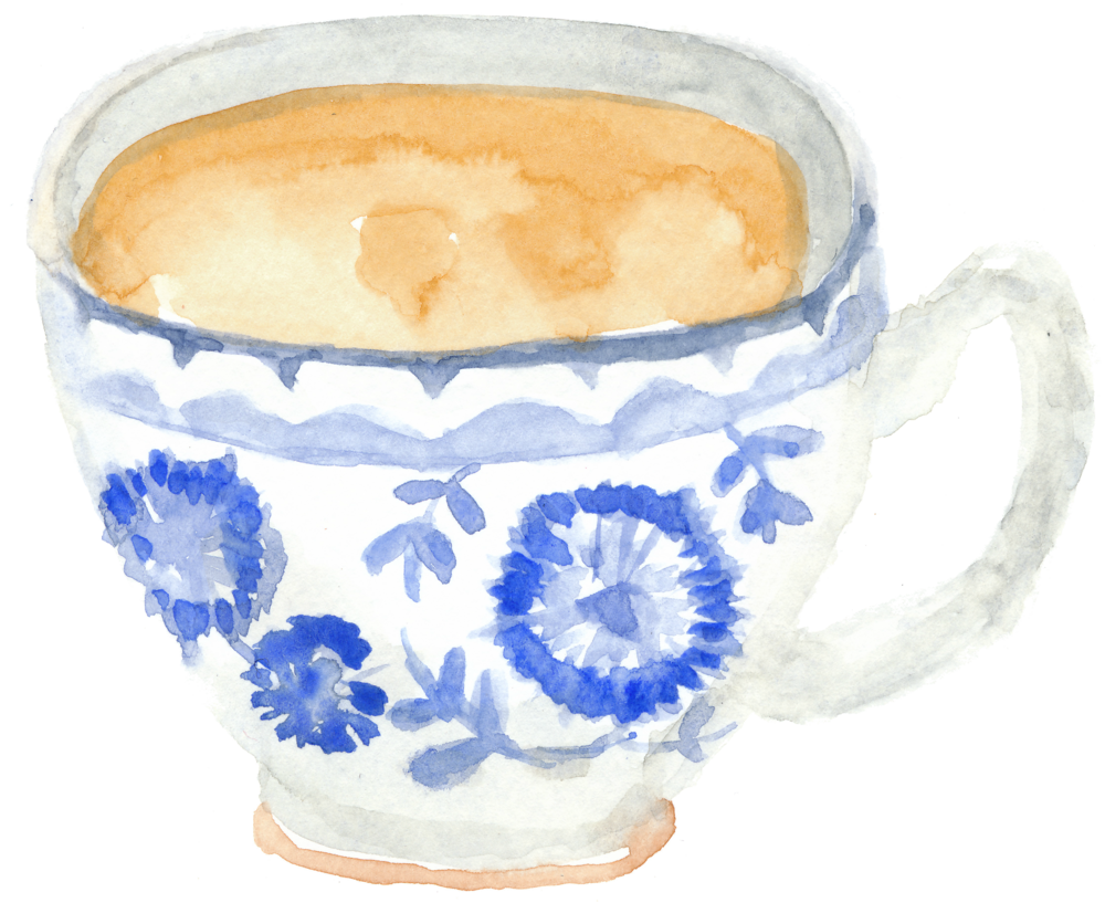 tea cup watercolor by Helen McLaughlin