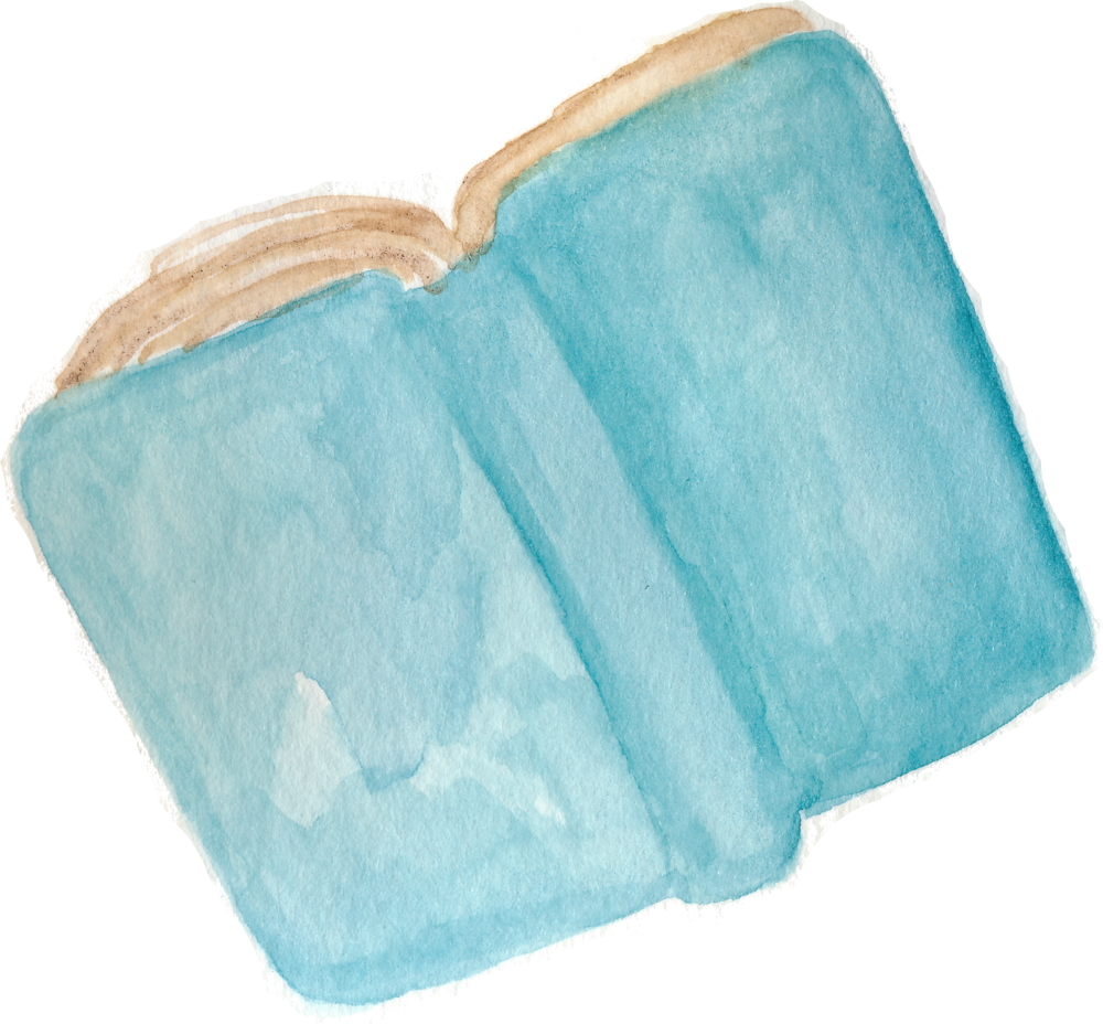 book watercolor by Helen McLaughlin