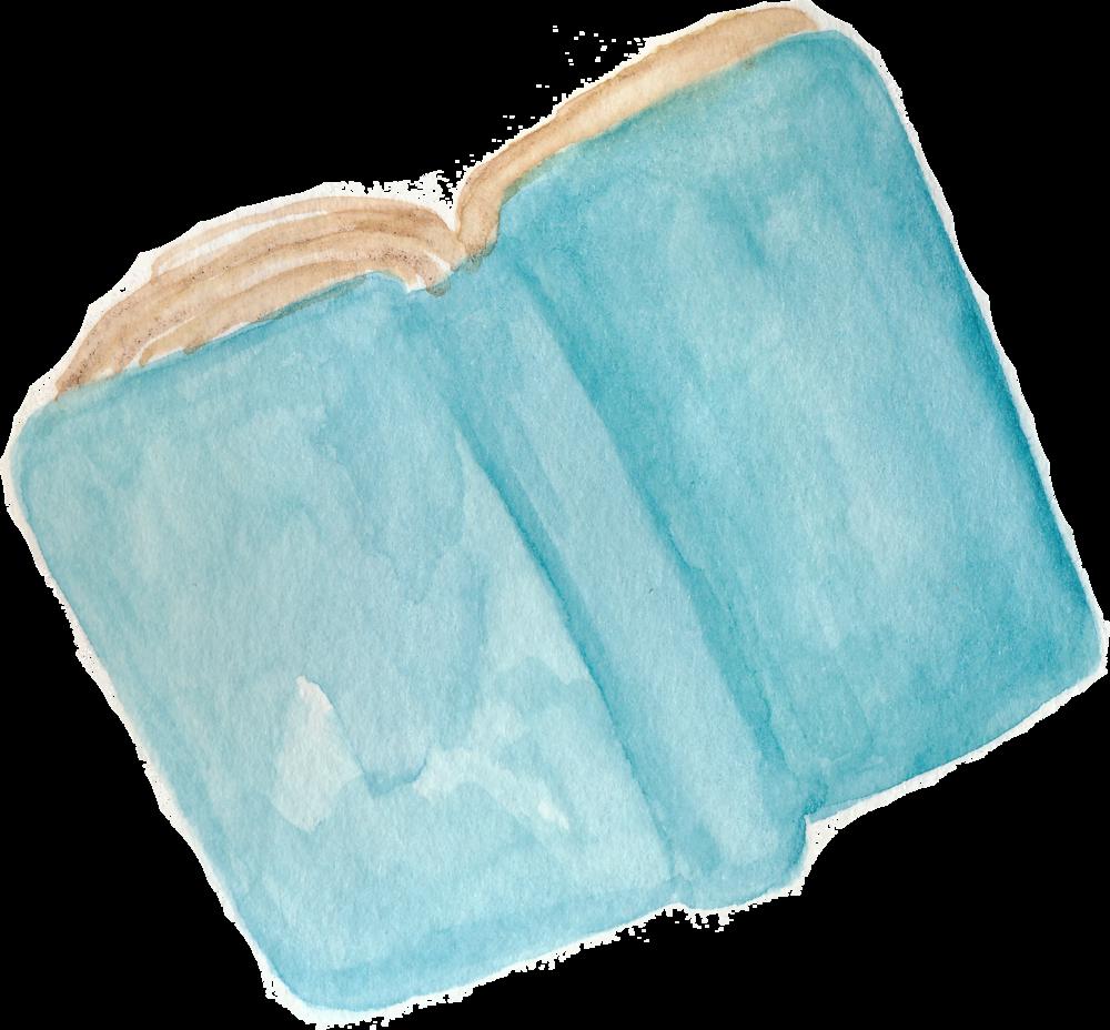 book watercolor by Helen McLaughlin