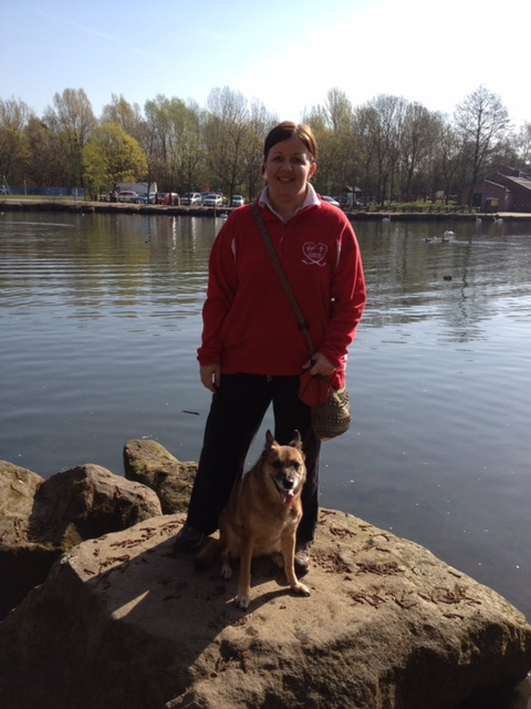 Me with Peggy Dog at Three Sisters in Wigan