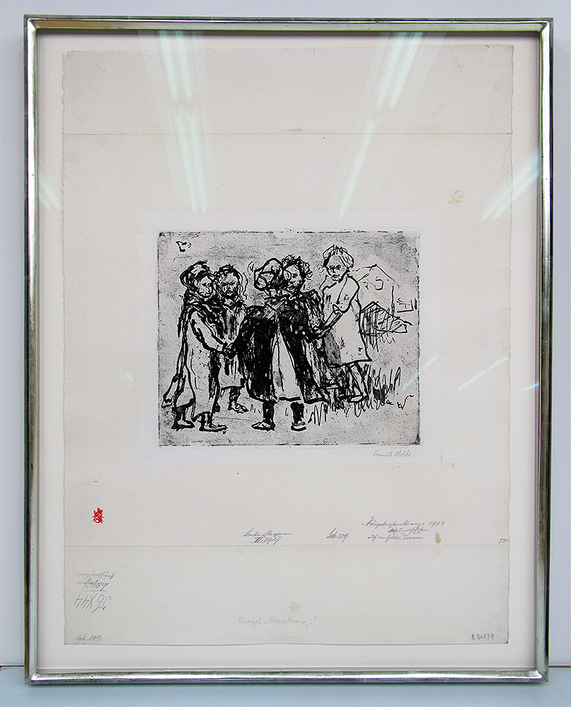 Emil Nolde print with 12k white gold frame.jpg