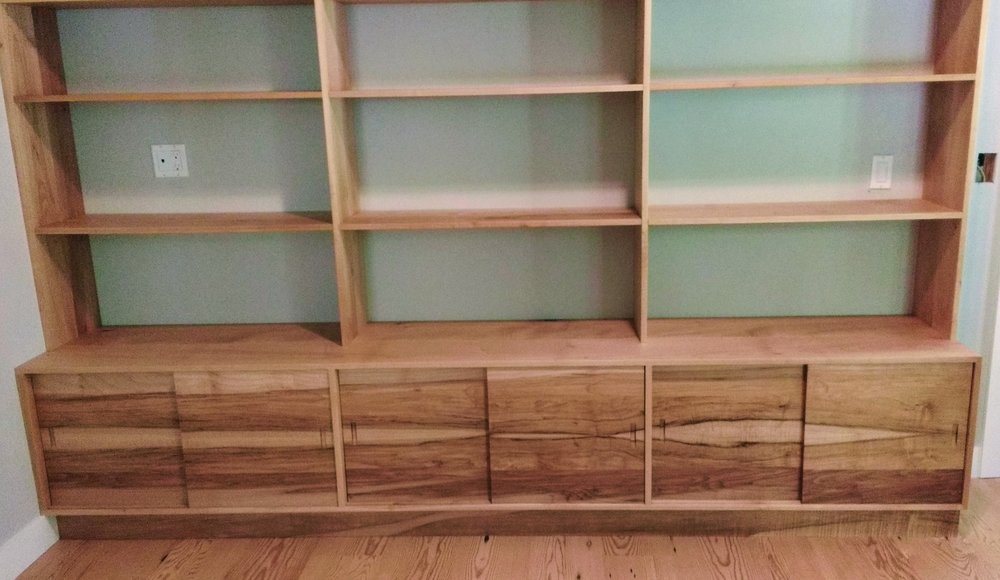 Exceptionnel This Custom Library Cabinet/bookcase Is Made Entirely Of Solid Local Big  Leaf Maple.