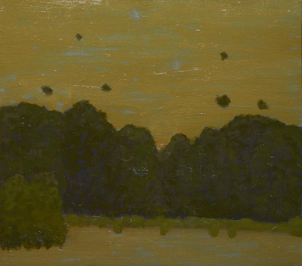 """""""Cottonwoods at Dusk"""