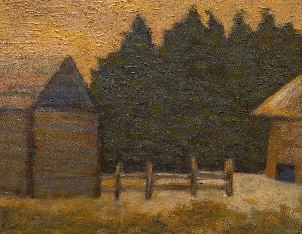 """Old Corral at Evening"""
