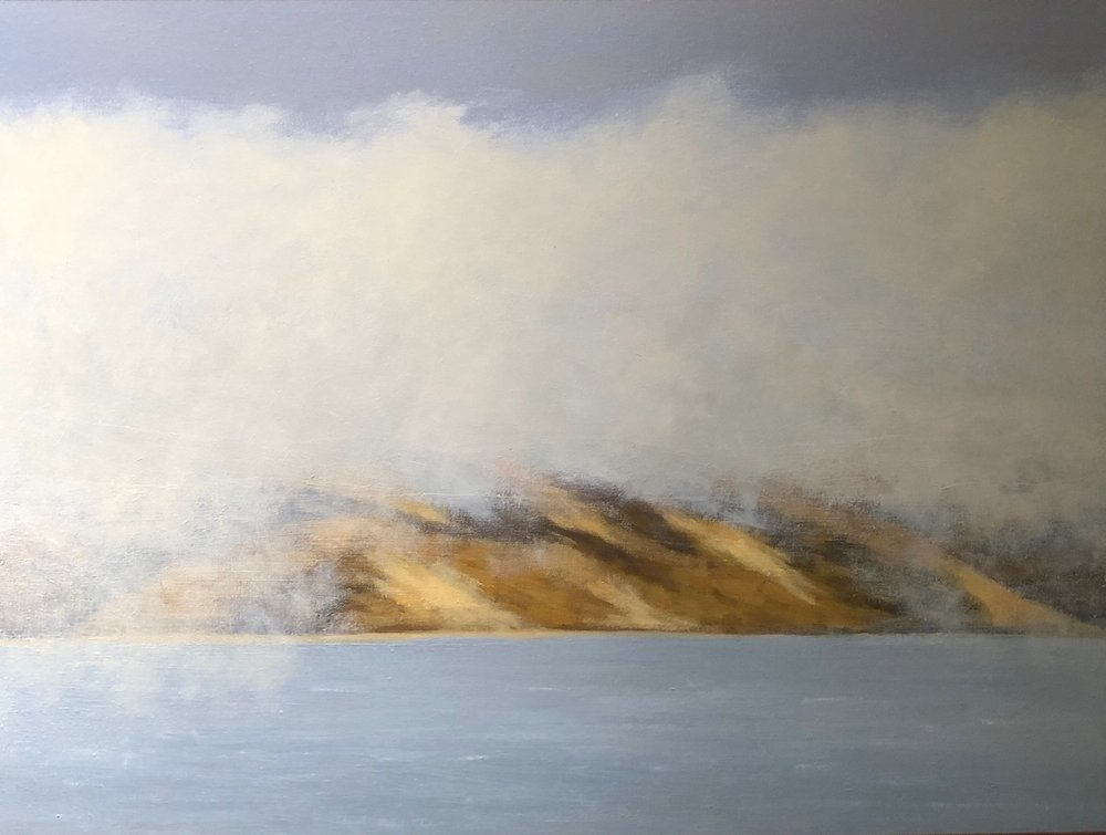 """Summer Fogbank on Tomales Bay"""