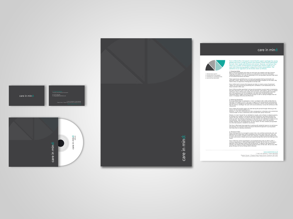 Stationery, e-book, corporate marketing materials