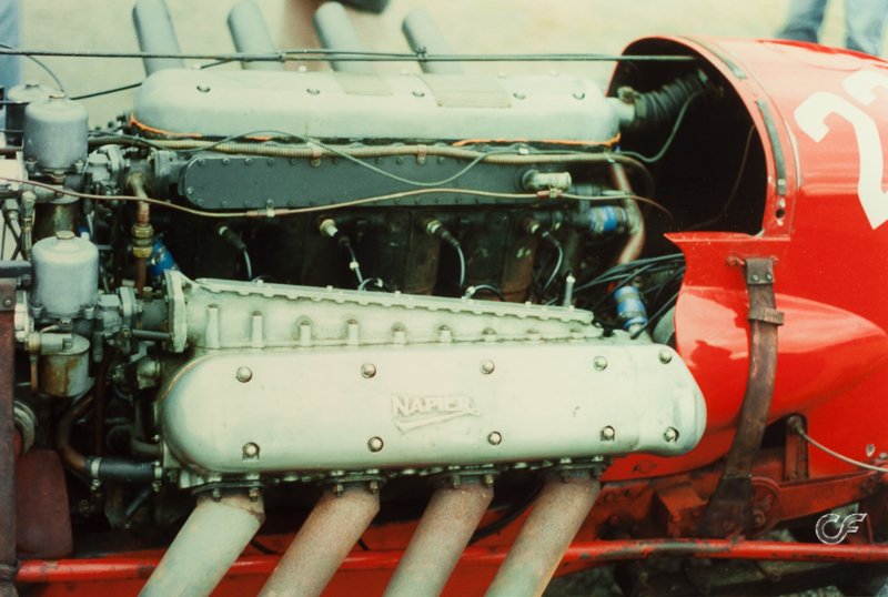 The W12 Napier engine in the infamous Napier - Bentley