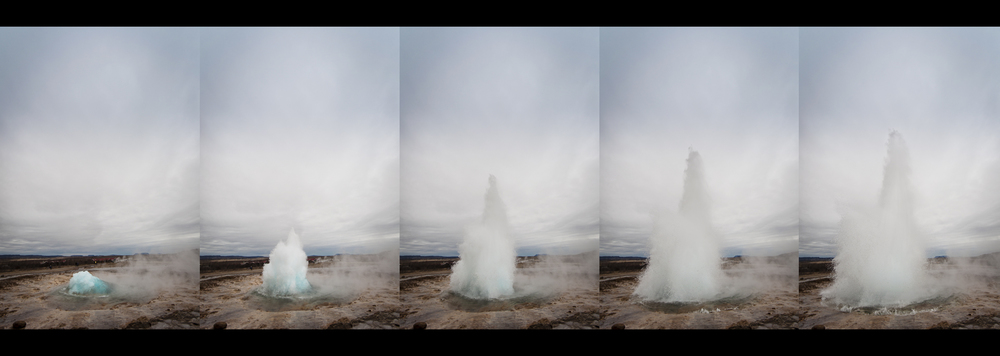 Geyser erupting in Iceland – Chris Frosin