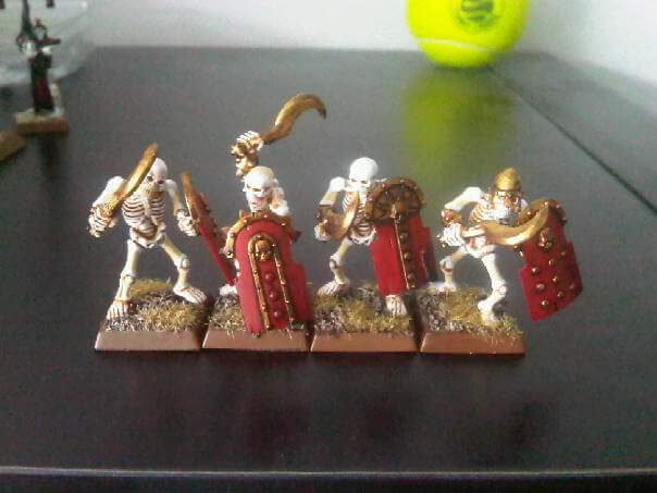 Four unique warriors from my infamous Tomb King army