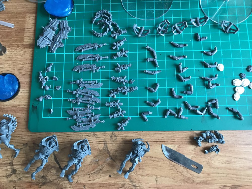 All Praetorian parts laid out ready to decide what to do