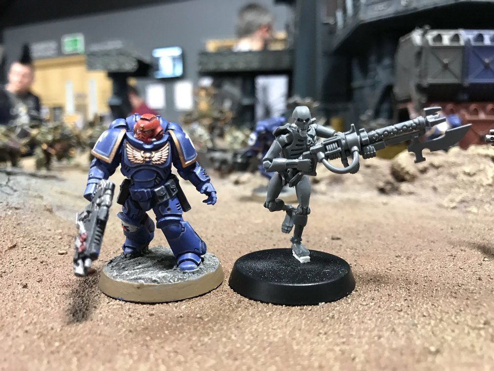 And my favourite photo of them so far! It's official, they're taller than a Primaris Marine!