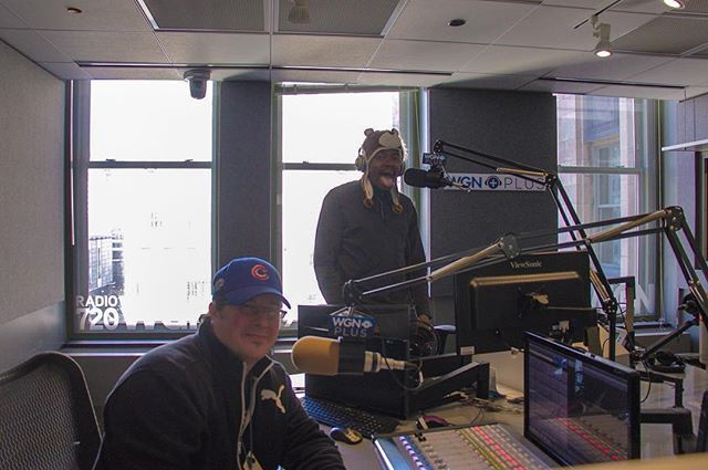 I Had Fun At @wgnradio Today, I Was On @dane_neal Show! Listen Out For Our Segment Sometime, I Talked About My Island And My Random Music Projects.