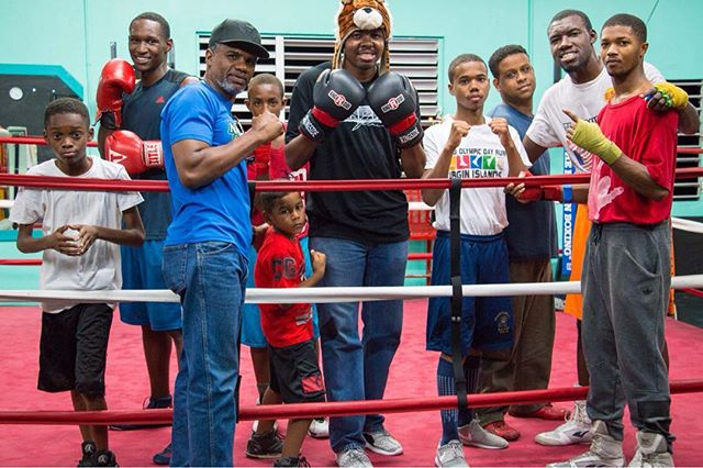 Throwback To Last Year In St. Thomas With @Juliusthechef1 And Legendary 3 Time World Champion Boxer Julian Jackson And The Future Virgin Islands Boxing Legends. Pre Order @Juliusthechef1 Caribbean Cookbook On @amazon At https://www.amazon.com/shop/djmany Via @Amazonbooks