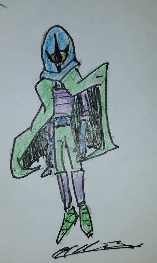 A super villain with a magic helmet. That's all I've got so far.