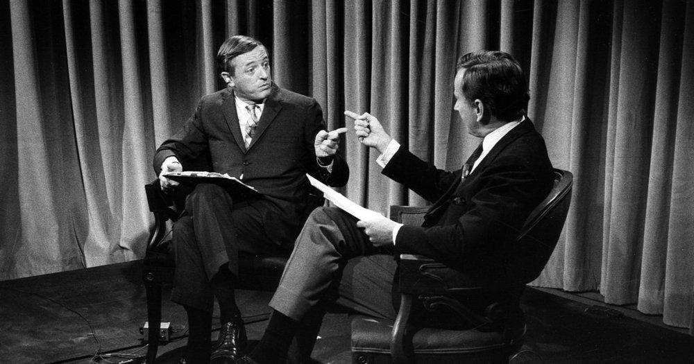 William F. Buckley and Gore Vidal .