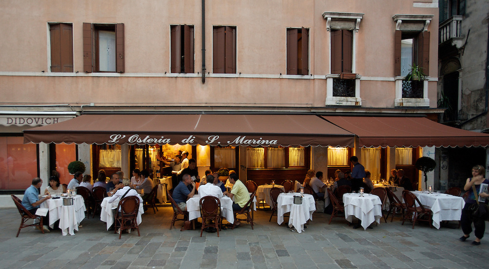 OSTERIA DI SANTA MARINA Venetian specialties. During summertime, there is the possibility to have dinner in the garden, in a quiet and romantic atmosphere.