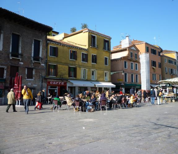 CAMPO SANTA MARGHERITA Lively atmosphere. Always crowded.