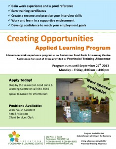 Creating Opportunities Applied Learning Program