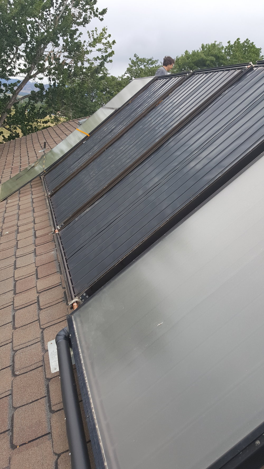 Before: Solar thermal panel leak