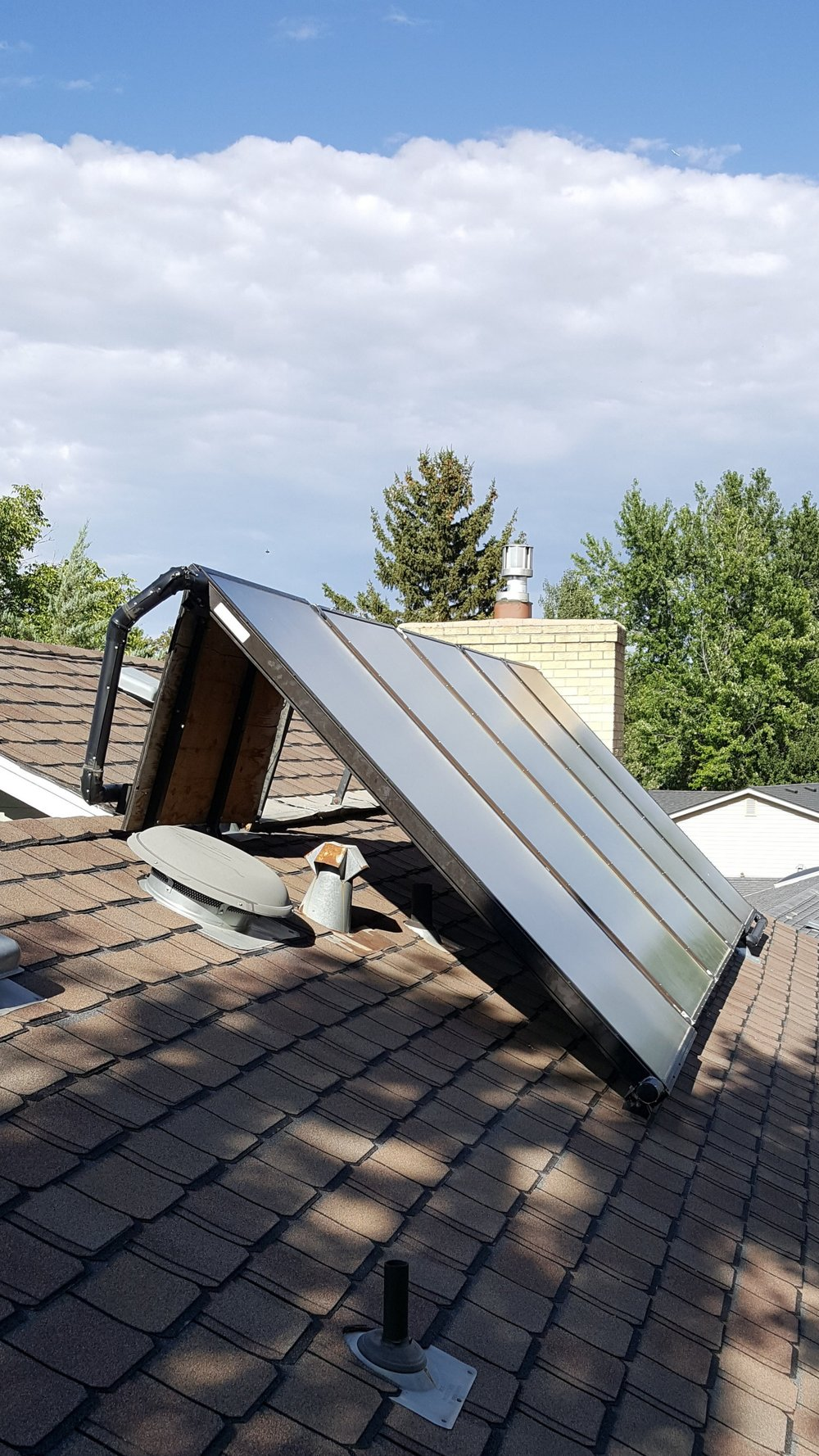 After: Solar thermal repaired panels
