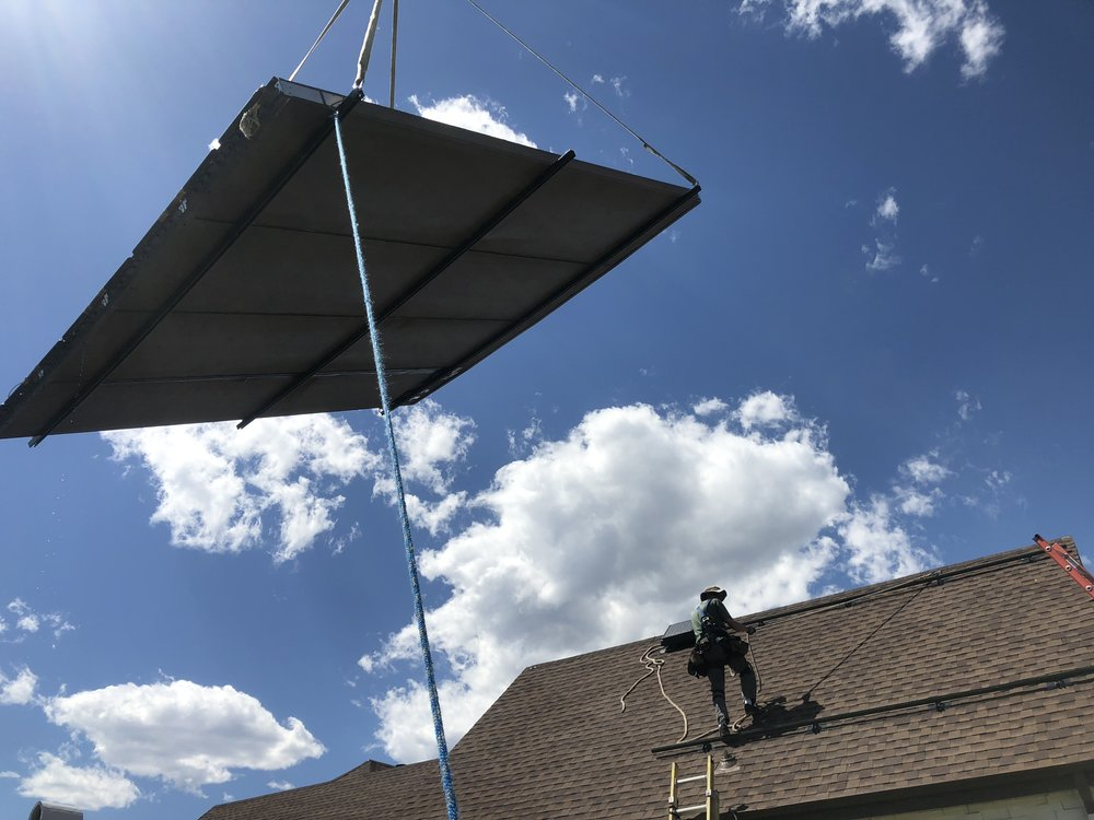 Reinstall of solar thermal panels
