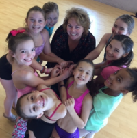 Karen kern, with her dance School students