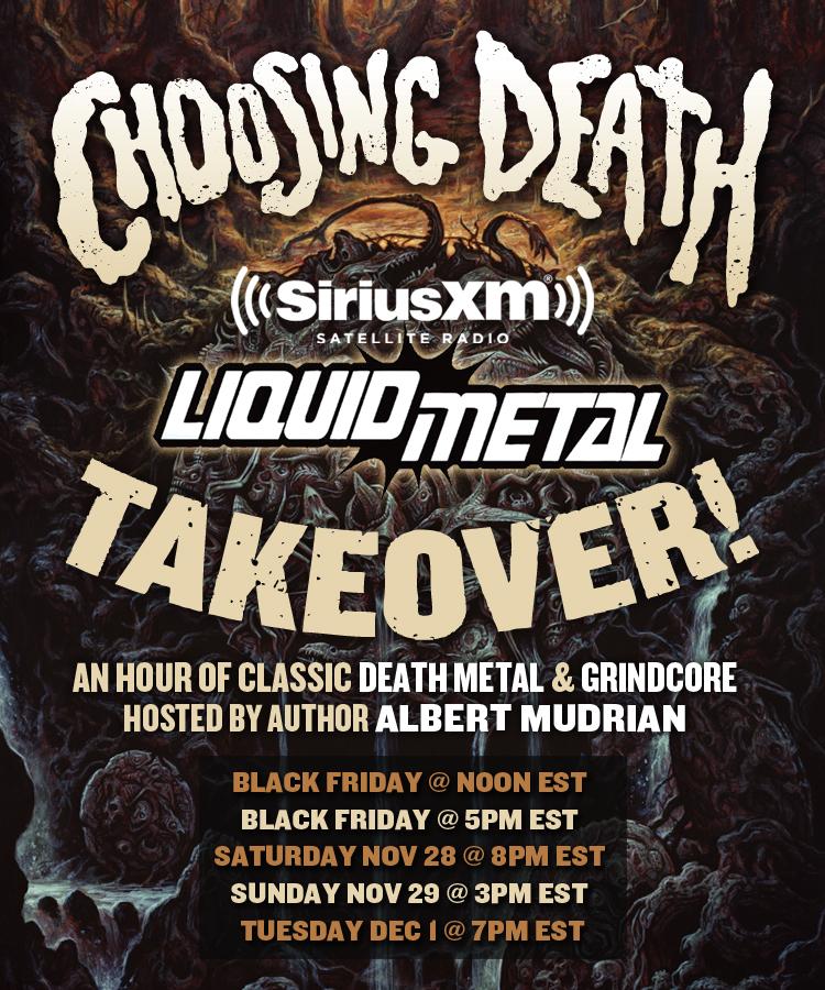 Choosing Death on Sirius/XM's Liquid Metal!