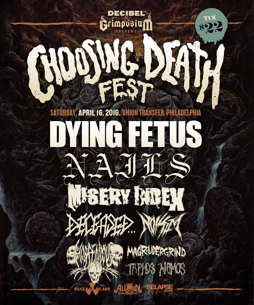 Decibel Magazine Announces Lineup for Choosing Death Fest
