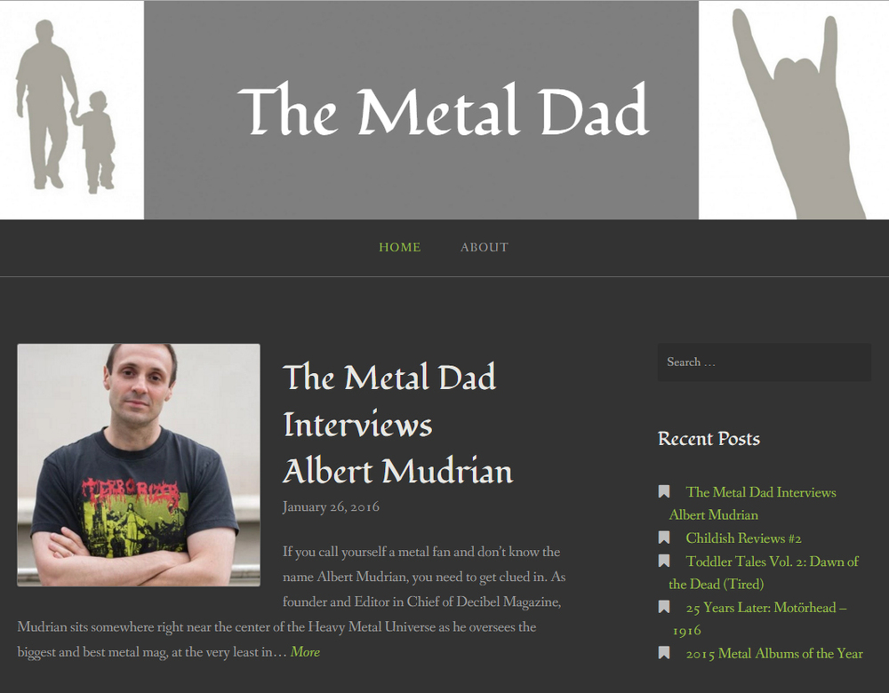 Teh Metal Dad interviews Albert Mudrian
