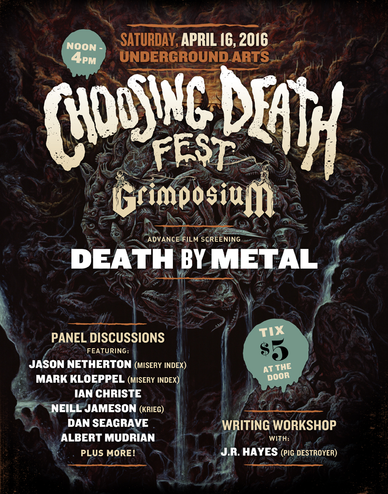 Choosing Death Fest: Grimposium - including a film screening, writing workshop, and two panel discussions