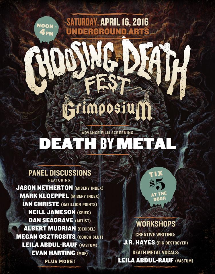 Choosing Death Fest Grimposium Announces Additional Panelists and Workshops!