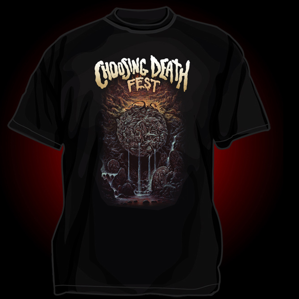 Pre-Order the Official Choosing Death Fest Shirt by Dan Seagrave!